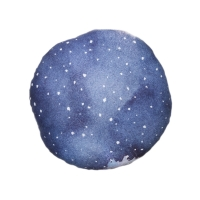 Coussin Dreamy Moon Nightfall - Bleu denim