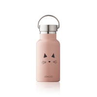 Gourde isotherme chat Anker - Rose pastel