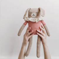 Grand doudou Lapin Maillot - Rose