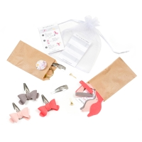 Happy coffret barrettes - Rose