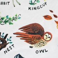 Couverture Alphabet Woodland - Multicolore