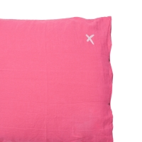 Coussin XL carré Hug rose fluo - Rose