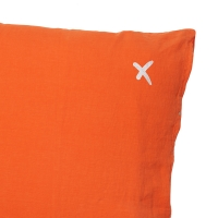 Coussin XL carré Hug terracotta - Orange