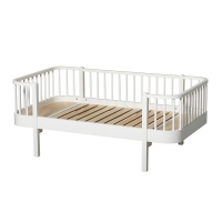 Lit junior banquette Wood - Blanc