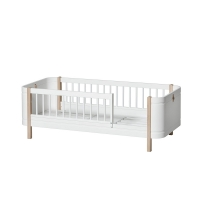 Lit junior Wood Mini+ - Blanc/Chêne