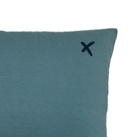 Coussin XL rectangulaire Lovers mineral - Vert