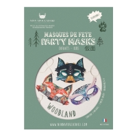 Pack 3 masques enfant Woodland - Multicolore