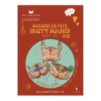 Pack 3 masques enfant Wonderland - Orange
