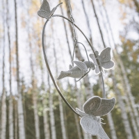 Mobile Bohemian Swing silver grey - Gris argent