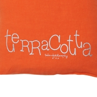 Petit coussin carré Molly terracotta - Orange
