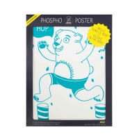 Poster phosphorescent Grizzly