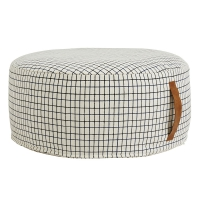 Pouf rond Sit on me - Blanc