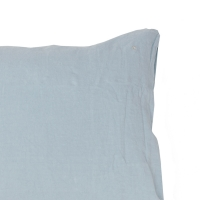 Taie d'oreiller rectangle Queens aqua 50 x 70 - Bleu