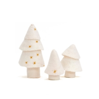 Set de 3 sapins - Naturel