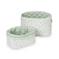 Set de 2 Paniers de Rangement Green Leaves