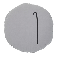 Coussin rond Shining orage - Gris