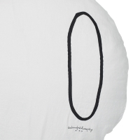 Coussin rond Shining plume - Blanc