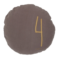 Coussin rond Shining taupe - Marron