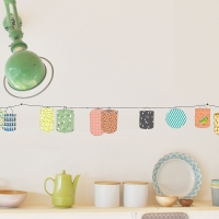Sticker Frise Lampions - Multicolore