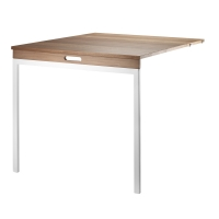 Table murale pliante - Noyer / Blanc