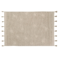 Tapis Hippy Stars - Naturel