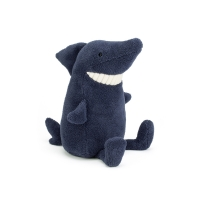 Peluche Toothy Requin Medium - Bleu marine