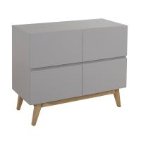 Commode à langer 4 tiroirs Trendy - Griffin grey
