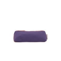 Trousse bicolore Colour Block - Violet/Caramel