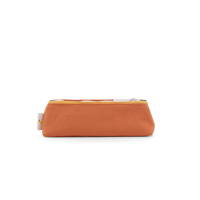 Trousse tricolore Freckles - Kaki/Beige/Orange