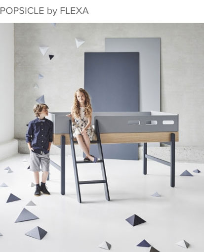 Chambre enfant design Popsicle par Flexa