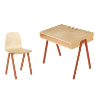 Bureau et chaise junior 7-10 ans - Rouge orangé